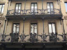 Casa Ferrario (o Ferraro), Milano. Wrought iron by Alessandro Mazzucotelli 1903