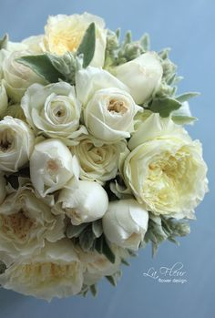 white bouquet for me
