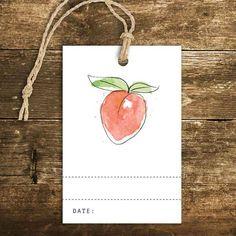 Étiquette - Pêche - Le Bar à Idées / Peach Label