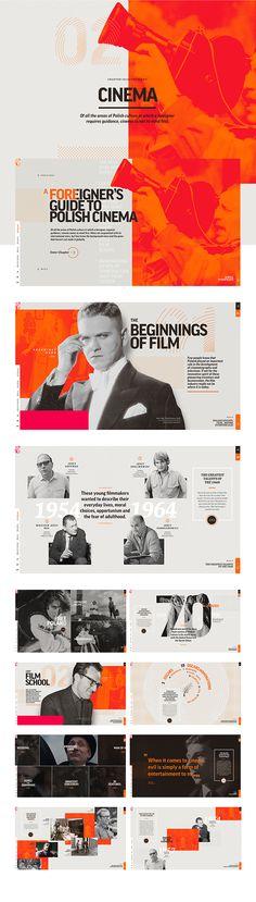 Presentation design layout. Inspirational presentation design samples