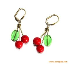 Cherry Earrings to make!