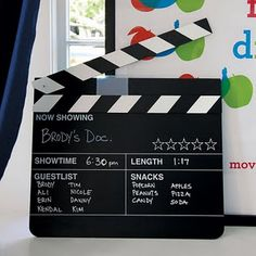 Make your own director's movie sign