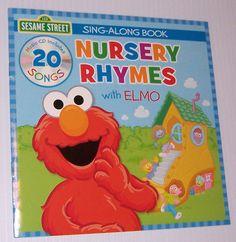 Sesame Street Nursery Rhymes With Elmo Sing Along Book And CD 20 Songs New #SesameStreet