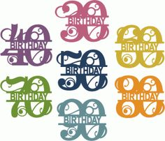 View Design #66654: split flourish birthday numbers 30-90