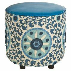 Nasha Ottoman in Blue. I want this to match my blue chair in my office.  Mama needs to put her feet up
