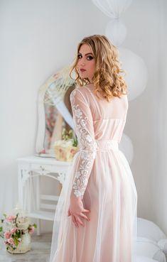 Bridal Boudoir, Bridal Lingerie, Bridal Gowns, Wedding Gowns, Bridal Nightwear, Blush Lingerie, Sensual, Lace Applique, Night Gown