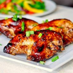 Honey Soy Chicken Breasts |  See the recipe at: https://www.facebook.com/RecipesWeb