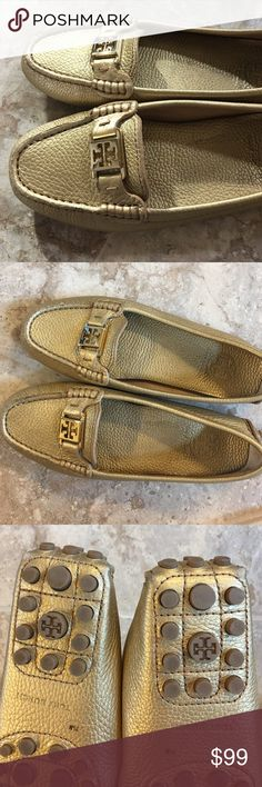 Tory Burch shoes Great condition. Worn two times. They are a  little tight for my taste. ☹️ Tory Burch Shoes Flats & Loafers