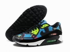 Nike Air Max 90 Prem Cinta azul / negro / blanco http://www.esnikerun.com/