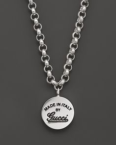 gucci necklace mens. gucci sterling silver craft pendant necklace, 17\ necklace mens i
