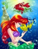 *SEBASTIAN, ARIEL & FLOUNDER ~ The Little Mermaid, 1989