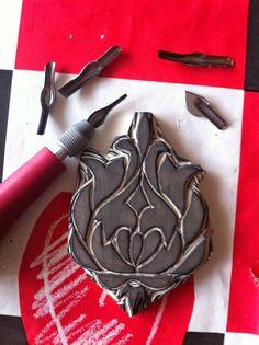 Anadas de la vida - Ana Mifei: Decoración con sellos hecho a mano.
