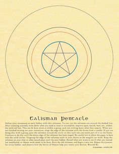 Talisman Pentacle Book of Shadows Page Grimoire BOS Wicca Witchcraft Spells Magickal Pagan. $3.50, via Etsy.