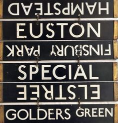 All stations to Elstree - These flip-over destination indicators sat on the fronts of trains on London Underground's Northern Line from They were thinking ahead, because the line to Elstree.