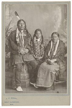 Gall, with his second wife Martina Blue Earth, and their son - Hunkpapa - no date {Note: Gall's first wife was named Stand In Center.}