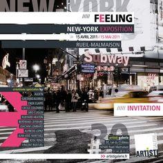 "Flyer recto exposition ""New-York"".  Client : Artisti Galerie (http://artistigalerie.fr)"