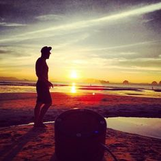 #Minirig on the #beach at #sunset #Minirigs #portablespeakers #music #nomorecables