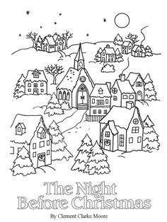Christmas Holiday Coloring Pages Lovely 24 Christmas Books Pt 4 Mom Envy Christmas Books, Christmas Images, Christmas Crafts, Christmas Trees, Christmas Holiday, The Night Before Christmas, Nightmare Before Christmas, Christmas Ornament Coloring Page, Color Activities