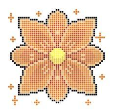 Pixel Art Grid, Cross Stitch, Patterns, Flowers, Block Prints, Punto De Cruz, Seed Stitch, Cross Stitches, Crossstitch