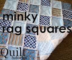 file this one for sure... SewSara: Minky Rag Squares -- quilt TUTORIAL