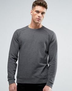 ASOS Sweatshirt In Charcoal