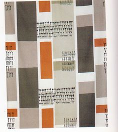 50's mod print. Lucienne Day