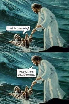 Humor Religioso, Dad Humor, Dad Jokes, Funny Jesus Memes, Funny Jokes, Jesus Jokes, Best Funny Pictures, Funny Photos, Medieval Memes