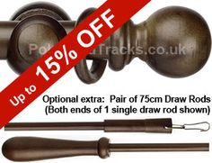 Window Line 28mm Walnut Pole Set £17.95 (Including VAT at 20%) Wooden Curtain Poles, Ice Cream Scoop, Window, Scoop Of Ice Cream, Windows