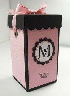 More Gift Giving Ideas: all Pink and Black. UdderlyAwesome Stamping From The Heart: Five More Gift Giving Ideas: all Pink and Black.UdderlyAwesome Stamping From The Heart: Five More Gift Giving Ideas: all Pink and Black. Diy Gift Box, Diy Box, Black Gift Boxes, Black Box, Pink Black, 3d Paper Crafts, Explosion Box, Craft Box, Gift Packaging