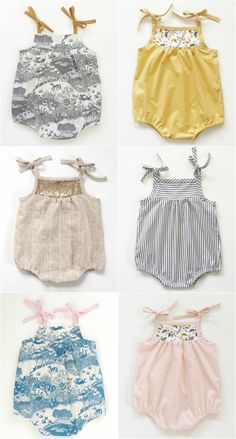 Beautiful Handmade Vintage Style Baby Rompers | SwallowsReturn on Etsy