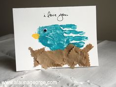 How To | Mother's Day Handprint Bird Card