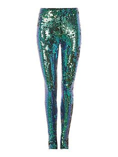 Sequin leggings.