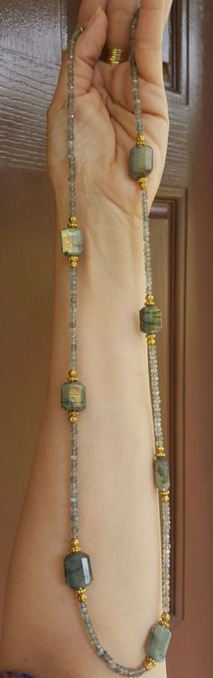 Faceted Labradorite Necklace.