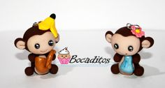 Monkeys made with polymer clay