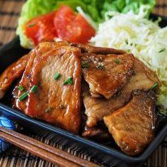 receta de cerdo al jengibre destacada