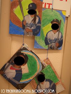 """baseball cards that have a goal/self-reflection sheet on the back for the """"stats"""". a few more ideas on blog for a sports themed, goal setting set of activities. Great for bulletin boards...ties into Olympics"""