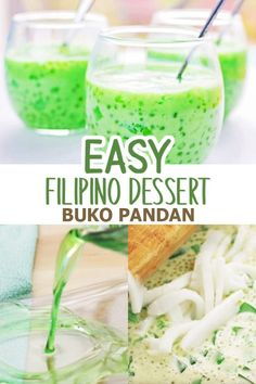 Buko Pandan is a popular Filipino dessert made with young coconut, agar-agar, tapioca pearls, evaporated milk, pandan extract and condensed milk. It's a refreshing and delicious dessert perfect for holiday parties!