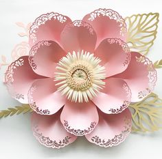 SVG PNG DXF Lace Paper Flower Template for cutting machines 2 Component Centers Included Diy Giant Paper Flowers Origami Wedding Backdrop by TheCraftySagAnnie on Etsy Paper Flower Backdrop, Giant Paper Flowers, Lace Flowers, Rolled Paper Flowers, Diy Cardstock Flowers, Paper Flower Centerpieces, Paper Flower Decor, Potted Flowers, Backdrop Ideas