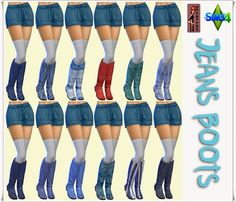 """Annett's Sims 4 Welt: Mini Summer Dress """"Feather"""" & Jeans Boots & Jeans Hat"""