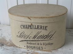 "Vintage French Hat Box ""Chapellerie"" from Bourges France. #LaBoutiqueVintage"