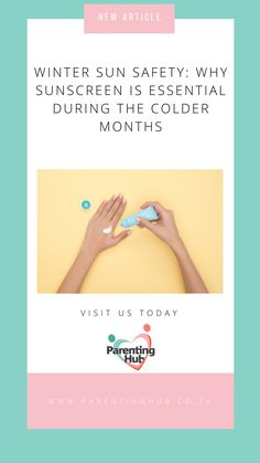 As South Africans we are accustomed to the harsh summer sun, and are used to applying SPF before heading down to the beach, or going for a run. But did you know that the sun's UV rays are equally dangerous during the colder months? Winter Sun, News Articles, Parenting Advice, Health And Nutrition, Say Hello, Did You Know, Keep It Cleaner, Knowing You, Activities For Kids