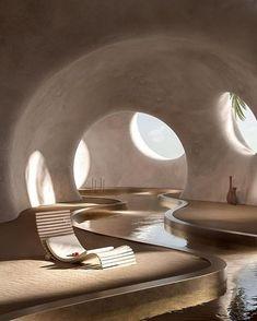 Architecture Cool, Minimalist Architecture, Organic Architecture, Contemporary Architecture, Parametric Architecture, Architecture Organique, Interiors Magazine, Earthship, Retro Futurism