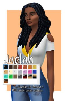 |Jaelah|• BGC • Semi Hat compatible • All Lods • 18 EA swatches + 4 ombres • Minimal clipping if any • Custom thumbnail • Disabled for random • Recolours allowed • Do not edit my mesh without my permission • Do not re-upload • Do not claim as your...