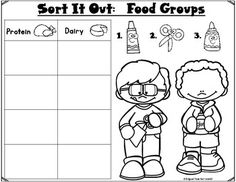 Sort It Out:  Food Groups Cut and Paste Activity