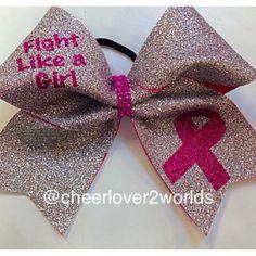 Pink Breast Cancer Awareness Cheer Cheerleading/Dance Ribbon Bow