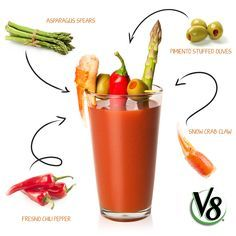 "The ""sophisticated"" Bloody Mary. Healthy Snacks, Healthy Recipes, Drink Recipes, Bloody Mary Recipes, Asparagus Spears, Cocktail Drinks, Cocktails, Stained Teeth, Dental Health"