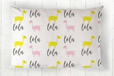 Personalized Kids Pillowcase  Toddler Pillowcase  by tinytweets