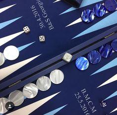 Backgammon façon cuir nuit - Personnalisation client