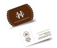 Healthy Gourmet Gifts Logo, Business Cards and Stickers