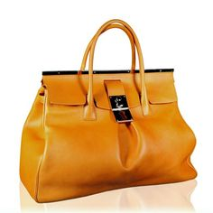 Large double handle bag in yellow - $2400.